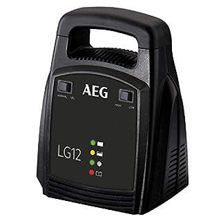 AEG Automotive 10274 Batterieladegerät LG (12 Volt, 12 Ampere, LED Anzeige, Erhaltungsladegerät)