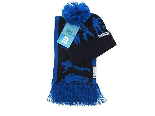 Global Brands Group Sombrero y Bufanda Azul del Videojuego FORTNITE co
