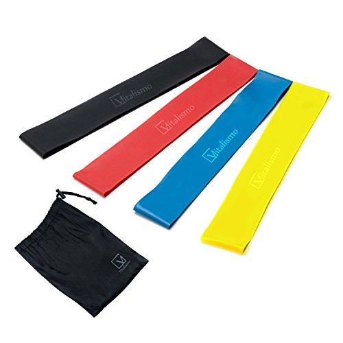Vitalismo, Bandes Elastiques - Vitalismo Bande Elastique Fitness Musculation  Sport Resistance 4 Lot pour yoga Pilates rééducation 96e87f21cbd