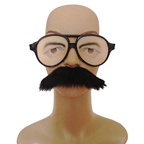 Klebeband Lustig Kostüm - luoem Brille Kostüm mit falschen Schnurrbart Auto Klebeband