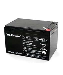 Yuasa - Batterie plomb 12V 14Ah Yu-Power YPC14-12 - YPC14-12