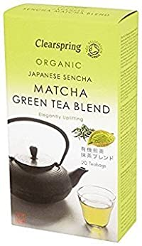 Pack of 3 : Clearspring Organic Sencha Matcha Green 20 Teabags (Pack of 3)