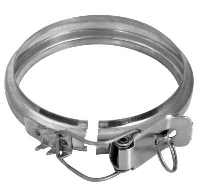 Kabelbinder-Verriegelung Durchm. 150mit Hebel Edelstahl 304BA SP.0,4mm