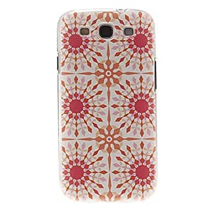 Red Turntable Pattern Plastic Protective Hard Back Case Cover For Samsung Galaxy S3 I9300 - Multi-Color