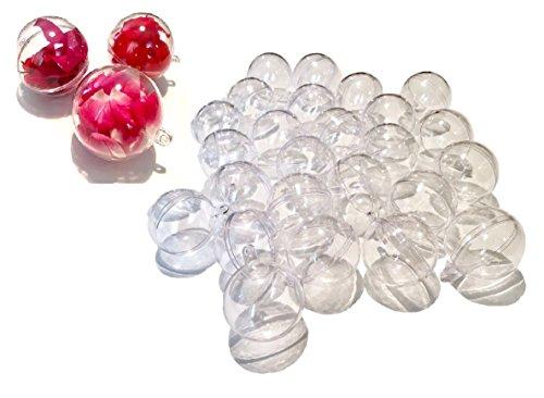25pieza acrílico bolas de 4cm Manualidades bolas de acrílico bola de acrílico transparente divisible transparente bola de plástico acrílico Balón de Crystal King