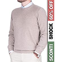 detailed look a3be8 d452d Amazon.it: maglioni cashmere uomo - Beige