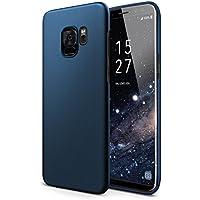 Galaxy S9 Hülle - vau SlimShell Case - Handy Schutz-Hülle Rückseite (matt blau)