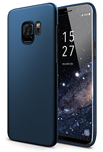 vau SlimShell Case Hülle kompatibel zu Samsung Galaxy S9 - Hülle, Handy Schutz-Hülle Rückseite blau -