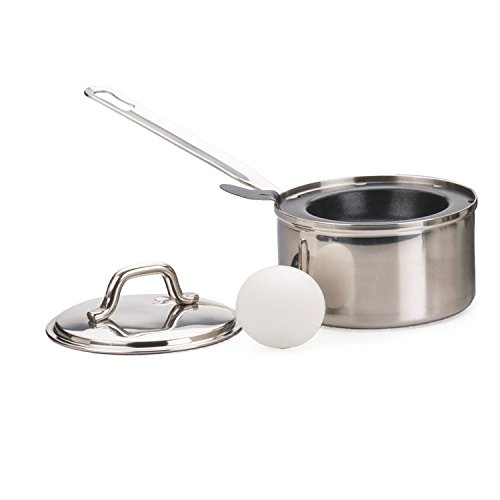 RSVP 1 EGG POACHER Stainless Steel W Lid Eggs Benedict Breakfast Dishwasher Safe Non-stick Egg Poacher