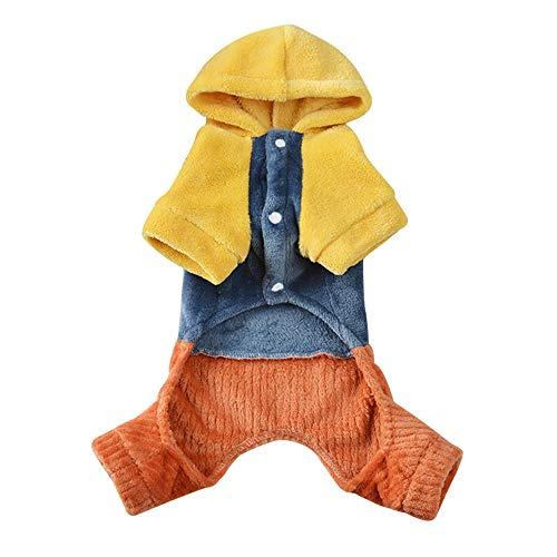 Simis Pet mit Kapuze Four-Legged Pullover, Halloween-Partei Cosplay HundeHoodie Kostüm Geist-Muster-Fancy-Overall Masquerade Kleid Kleidung Urlaub Warme Kleidung im Winter,L