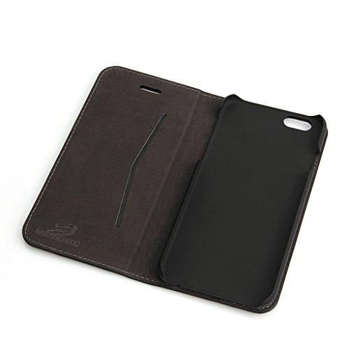 iPhone 6S Plus/6 Plus Echtem Leder Hülle,Careynoce Luxus Handgefertigt Echtem Leder Brieftasche Magnetischen Flip Schutzhülle für Apple iPhone 6S Plus iPhone 6 Plus(5.5 Zoll) -- Klassisches geprägtes  M03