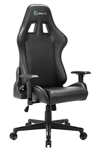 Newskill Kitsune - Silla Gaming Profesional (Inclinación y Altura Regulable, reposabrazos 2D Ajustables, Base en Nylon, reclinable 180º), Color Negra