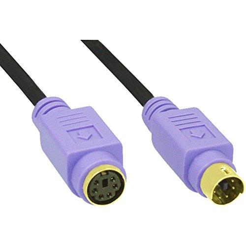 InLine 13342W 2m schwarz Kabel PS/2-Kabel PS/2(schwarz)
