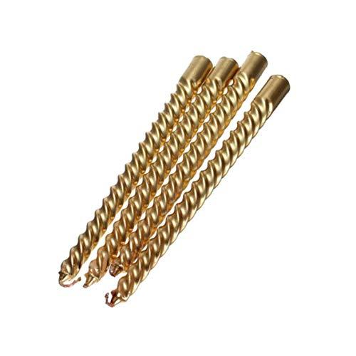 Aokshen 20,1 cm Lange Kerzen Wachs 4 Stück lang Gold Twist Taper Kerze Spirale Taper Taper Taper Twist Dinner für Esstisch Hochzeit Spirale Durchmesser ca. 2 cm