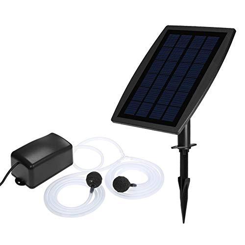 kaikki Solarbrunnenpumpe für Fische Solar Power Freistehende Wasserpumpe Panel Kit Sauerstoffpumpe Luftpumpe Wasserpumpe -