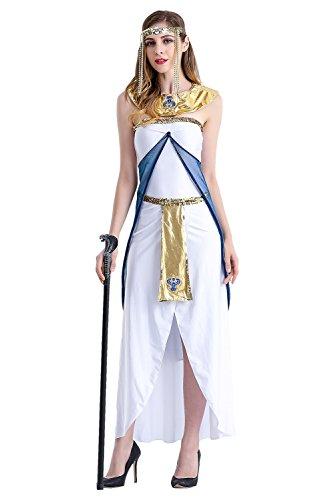 e göttin kostüm, Ägypterin Kostüm Königin Ägypten Frauenkostüm für Karneval Halloween Fasching Lang Damen M (Griechischen Königin Kostüme)