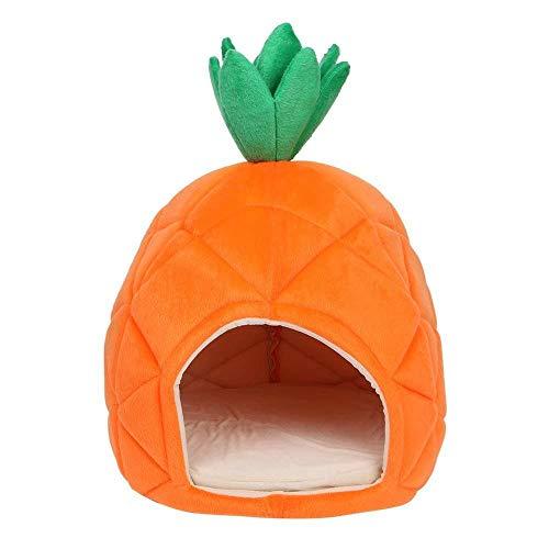 Xinfang Ananas-Design Haustier Haus Hund Höhlennest gemütliches Schlafbett für Hunde und Katzen, Schlafsack, ideal für Haustiere unter 8 kg -