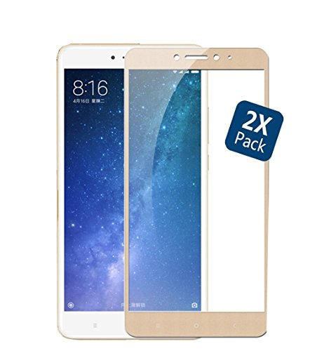 GOGME Tempered Glass for Xiaomi Mi Max 2, 9H Rounded Edge