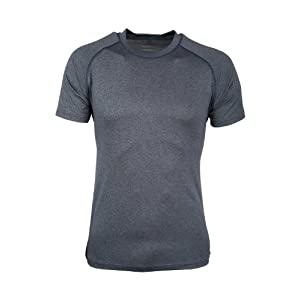 41iAjbydgdL. SS300  - Mountain Warehouse Agra Mens Melange T-Shirt - Lightweight Top, Comfortable, Round Neck Tshirt, Quick Drying & UV Protection Tee - for Winter Travelling & Walking