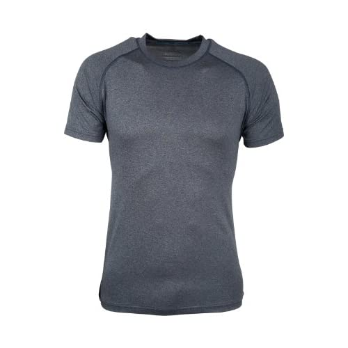 Mountain Warehouse Agra Mens Melange T-Shirt – Lightweight Top, Comfortable, Round Neck Tshirt, Quick Drying & UV Protection Tee – for Travelling & Walking