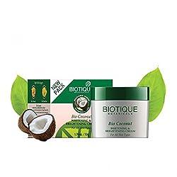 Biotique Bio Coconut Whitening and Brightening Cream, 50g (Pack of 2)