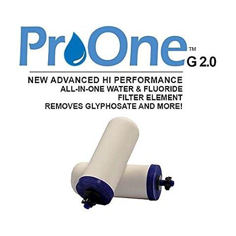 propur ProOne G 2.012,7cm Filtre Éléments (1Paire) pour propur Traveler ou Nomad–New ProOne Filtre Éléments chimiques et fluorure Retrait