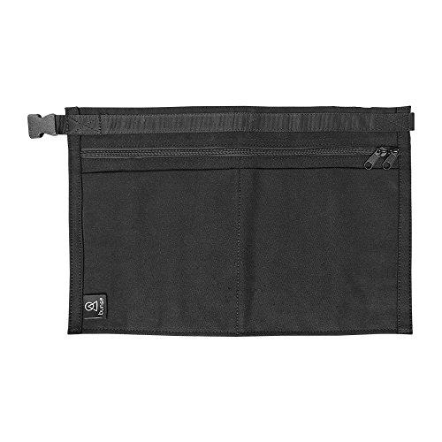 Bunse Geldgürtel / Hüfttasche, gefärbtes Denim, 4 Taschen Black Denim (Gefärbte Denim)