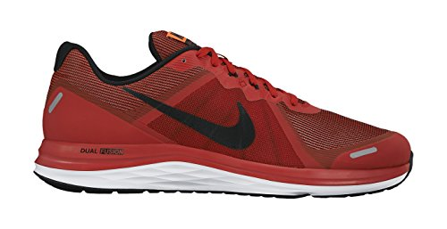 Nike Dual Fusion X 2, Chaussures de Running Compétition Homme Rouge (Unvrsty Rd/Blk-Ttl Crmsn-White 600)