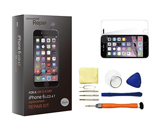 Novonest LCD Touchscreen Ersatz Bildschirm Front Komplettes Glas für Apple iPhone 6 4.7