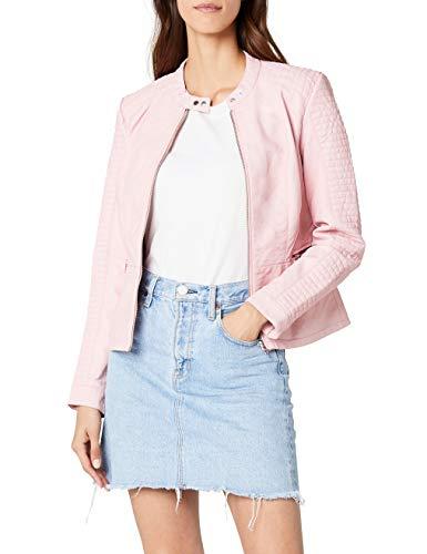 ONLY Damen Jacke onlHEART Faux Leather Jacket OTW NOOS, Rosa Peachskin, Large (Herstellergröße: 40)
