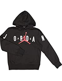 dc726b26e2a7 Jordan Nike AIr Graphic Sweatshirt Hoodie Unisex Boys Girls Black Red White  Size Medium - 10