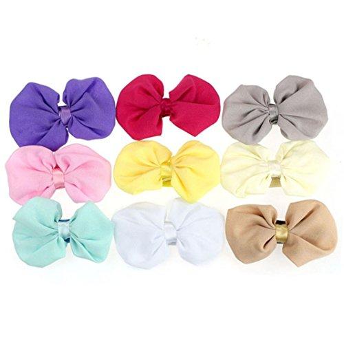 Huhu833 9 Stück Babys Mädchen Chiffon Blume Elastisches Stirnband Fotografie Stirnbänder
