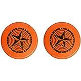 FUTURA Plastic Flying Discs Frisbee for Kids (Pack of 2) (Orange)