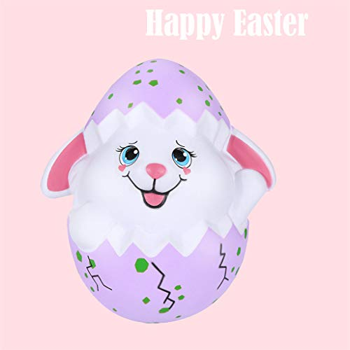 Mitlfuny Karnevalsparty Fancy Festival Zubehör,Squishies Happy Easter Bunny Egg Scouted Slow Rising Squeeze Sammeln Sie Ostergeschenk