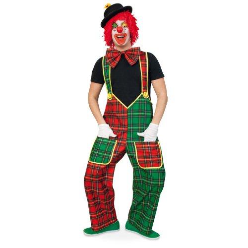 NEU Herren-Latzhose Clown McCheck, rot-grün Gr. XXXL