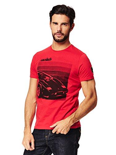 Automobili Lamborghini T-Shirt Countach Lamborghini Uomo Rosso
