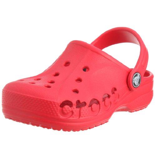 Crocs, Baya Sabot K, Zoccoli e sabot, Unisex - bambino Rosso (Red)