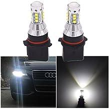 FEZZ 1000LM Coche Bombillas LED para Luz Antiniebla DRL Luz Diurna de Conducción Super Brillante, P13W PSX26W 9V-30V DC, 80W Blanco, Paquete de 2