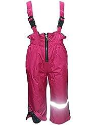 Outburst - Baby Mädchen Regenhose Matschhose Skihose Latzhose Fleecefutter wasserundurchlässig, pink