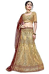 WomenS Beige Color Embroidered LehengaKNK5416