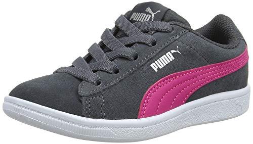 Puma Mädchen Vikky AC PS Sneaker, Grau (Iron Gate-Beetroot Purple Silver 03), 35 EU