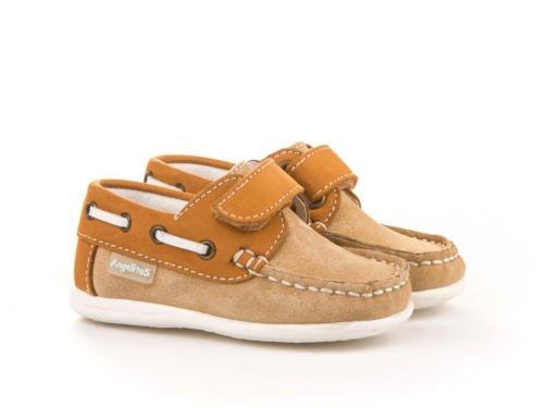 ANGELITOS , Chaussures bateau pour garçon Camel