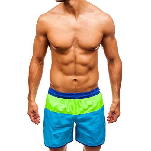 Haggar-cord-hose (TAOtTAO Männer Casual Splice Streifen Strand Arbeit Casual Männer Kurze Hosen Shorts Hosen Gestreifte beiläufige Kurze Strandhose (G, XL))