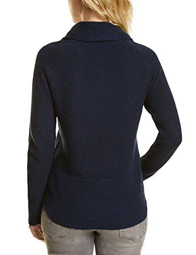 Cecil Damen Pullover Blau (Deep Blue Melange 10157)