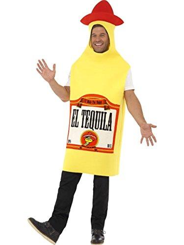 Schnaps Flasche Kostüm - Herren Kostüm Tequila Schnaps Flasche Karneval Fasching Party