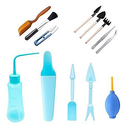 TOOGOO 13 pieces Kit d'outils de repiquage de succulentes Ensemble d'outils a main de jardinage pour mini jardin
