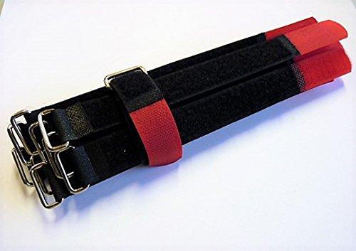 Kabel-Klettband Kabelklett Kabelbinder Klettbinder,mit Metallöse 10 Stück DIKETE Rot Wiederverwendbare Klett-Kabelbinder mit Klettverschluss 20cm lang 2cm breit (Klett und Flausch gegenüberliegend)