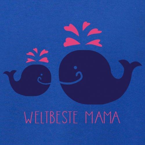 Weltbeste Mama - Damen T-Shirt mit Rundhalsausschnitt- 13 Farben Royalblau