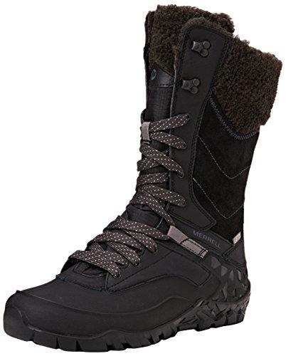 Merrell Aurora Tall Ice+ Waterproof, Chaussures de Randonnée Hautes Femme, Noir (Black), 39 EU