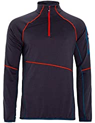 Ternua Fralen Camiseta, Hombre, Negro (Whales Grey), 3XL
